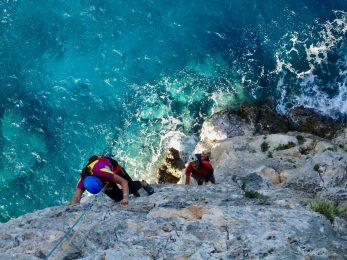 rock climbing in Pedra Longa, Marinaio di Foresta