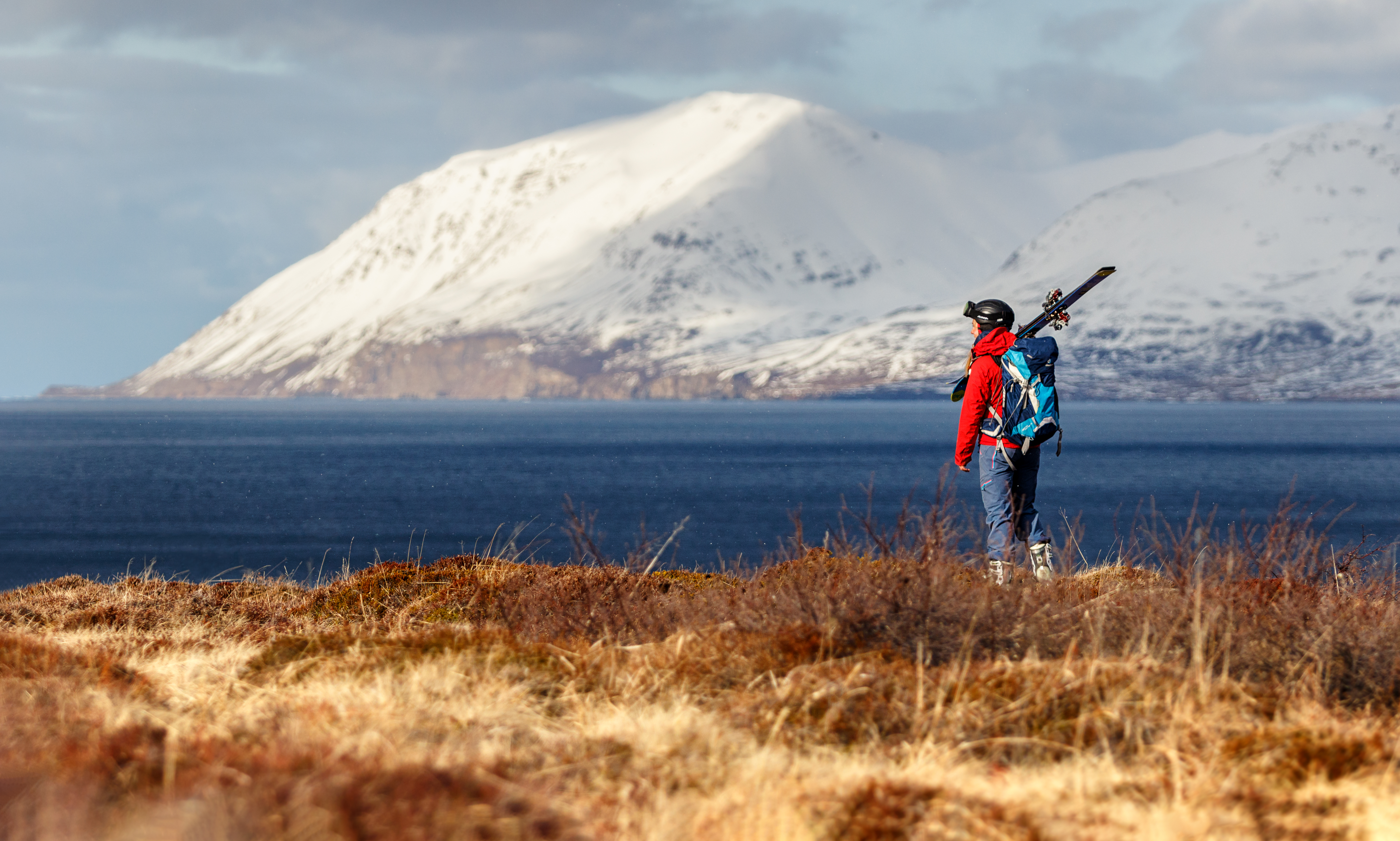 Ski touring in Iceland