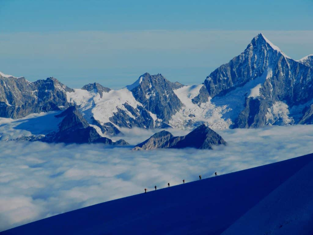 Monte Rosa Climb: Facts & Information. Routes, Climate, Difficulty, Equipment, Preparation, Cost